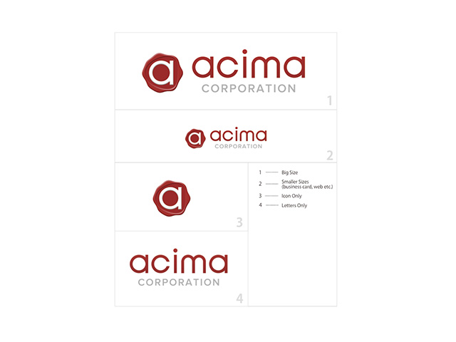 acima corporation logo design
